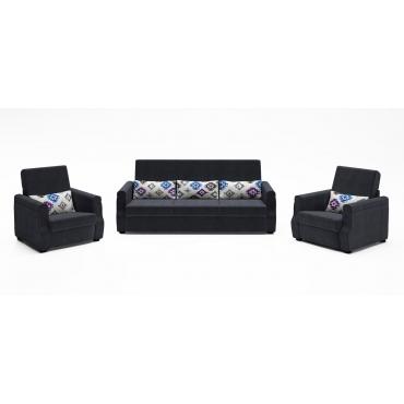Set canapea extensibila si 2 fotolii - Floris 311
