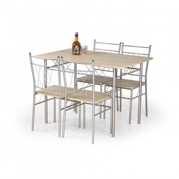 Set masă cu 4 scaune Faust