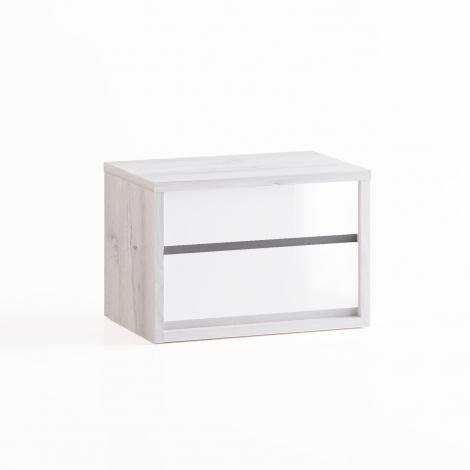 Dormitor Berna - Noptieră alb lucios