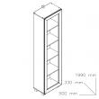 Sistem Atena - etajeră stejar bardolino