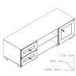 Sistem Atena - suport TV 1500 stejar bardolino